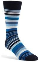 Bugatchi Men's 'Deconstructed Rugby Stripe' Socks