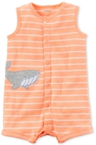 Carter's Striped Whale Romper, Baby Boys (0-24 Months)