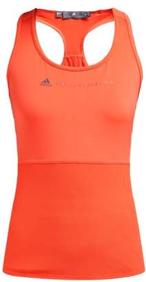 adidas by Stella McCartney Essential Mesh-panel Performance Tank Top - Womens - Orange