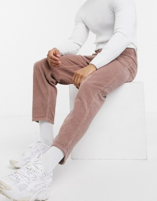 ASOS DESIGN relaxed tapered corduroy jeans in dusty lilac