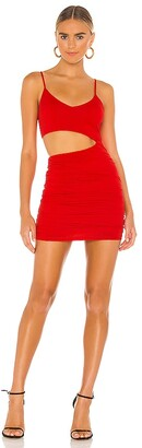 superdown Darcey Ruched Mini Dress