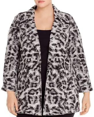 Nic+Zoe Plus Plus Leopard-Print Faux-Fur Coat