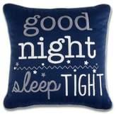 """Wendy Bellissimo Wendy BellissimoTM Sawyer """"Good Night Sleep Tight"""" Throw Pillow"""
