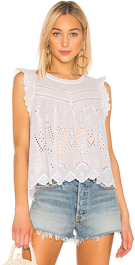 1 STATE Embroidered Eyelet Blouse