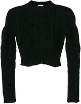 Dondup textured cropped jumper