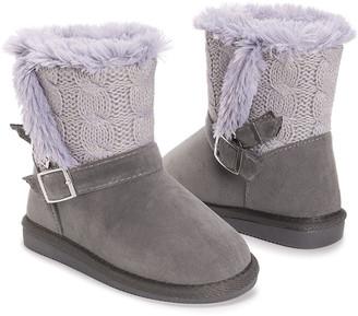 Muk Luks Girls' Casual boots Grey - Gray Alyx Boot - Girls