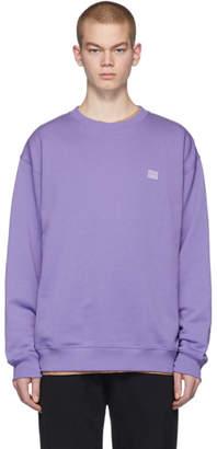 Acne Studios Purple Forba Face Sweatshirt