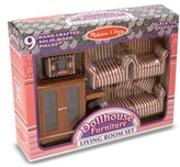 Melissa & Doug Girl's 1:12 Scale Dollhouse Living Room Furniture