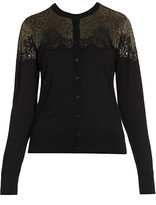 Dolce & Gabbana Lace Inset Cardigan
