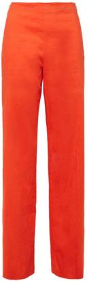 Theory Slub Linen-blend Wide-leg Pants