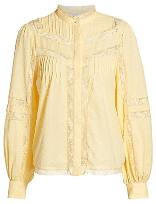 Joie Nazly Floral Lace Blouse
