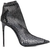 Le Silla mesh pointed toe ankle boots