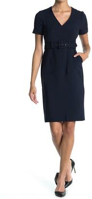 Maggy London Utility Waist Belt Sheath Dress
