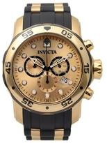 Invicta Men's 17885 Pro Diver Quartz Chronograph Dial Band Watch - Black/Gold
