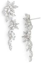 Nadri Women's Floral Crystal Linear Drop Earrings