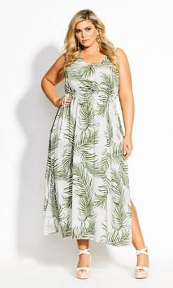 City Chic Scoop Oahu Maxi Dress - white