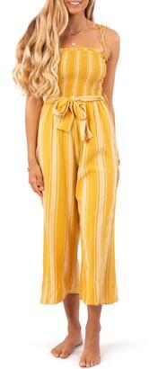 Rip Curl Fiesta Stripe Crop Jumpsuit