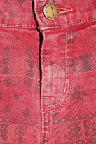 Current/Elliott The Moto printed skinny jeans