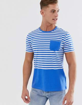 Esprit t-shirt with nautical stripe in bright blue