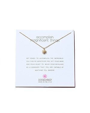 Dogeared Accomplish Magnificent Things Necklace, 16