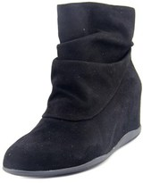 Me Too Houston Women Round Toe Suede Black Ankle Boot.