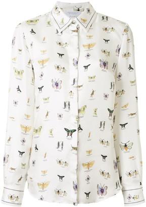 Gabriela Hearst Butterfly-Print Silk Shirt