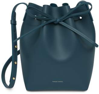 Mansur Gavriel Mini Bucket Bag - Midnight Blue