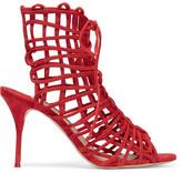 Sophia Webster Delphine Suede Sandals - Red