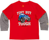 Carhartt Fiery Red Heather 'Tough' Force® Layer-Sleeve Tee - Toddler