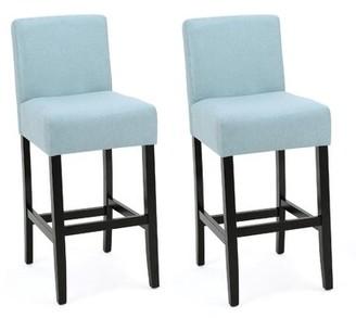 "Latitude Run Ingleside Bar & Counter Stool Seat Height: Bar Stool (29.5"" Seat Height), Upholstery: Light Blue"