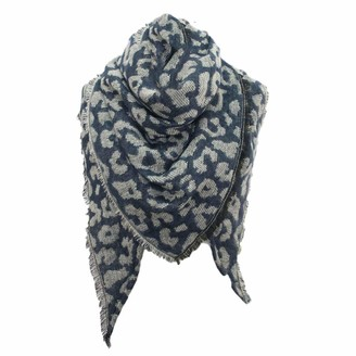 Moginp Scarf Moginp Women Winter Warm Wrap Shawl Ladies Leopard Printing Stole Cape Scarf Soft Scarves(Red)