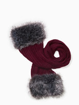 Kate Spade Faux fur and mohair blend scarf
