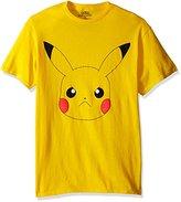 Pokemon Men's Pikachu Big Face Short Sleeve T-Shirt
