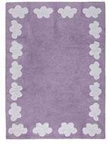 Happy Decor Kids Washable Rug (120 x 160 cm, Cenefa Purple, Clouds)
