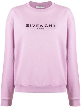 Givenchy Vintage-Effect Logo Sweatshirt