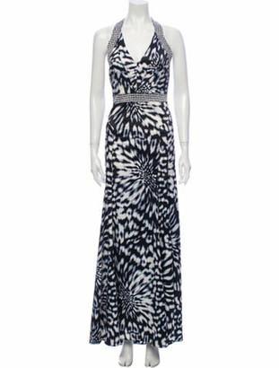 Just Cavalli Animal Print Long Dress Black