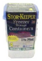 Arrow Plastic Arrow Stor-Keeper Set Of 2 Freezer Storage Containers, .5 Gallon
