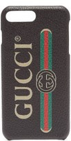 Gucci - Logo Print Iphone 8 Plus Case - Mens - Black