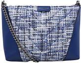 Kurt Geiger South Kensington Tweed Leather Cross Body Bag, Blue