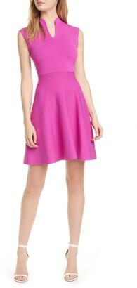 Ted Baker Lliliee Mandarin Collar Skater Dress
