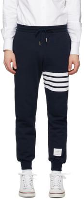 Thom Browne Navy 4-Bar Classic Lounge Pants
