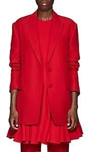 Valentino Women's Silk-Wool Two-Button Blazer - Red