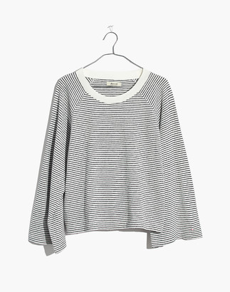 Madewell Terry Raglan Sweatshirt in Stripe