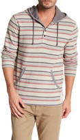 Lucky Brand Striped Henley Hoodie