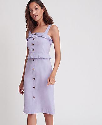 Ann Taylor Ruffle Button Sheath Dress