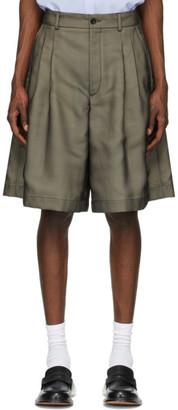 Maison Margiela Beige Wool and Silk Shorts