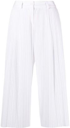 Jejia Plisse Cropped Trousers