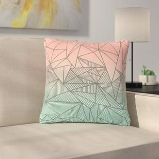 """Bodhi East Urban Home Fimbis Rays Geometric Illustration Outdoor Throw Pillow East Urban Home Size: 16"""" H x 16"""" W x 5"""" D"""