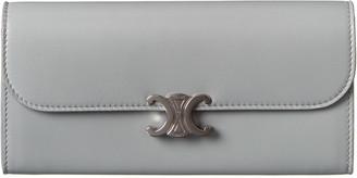 Celine Large Leather Continental Wallet