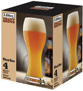 Libbey Set of Four Wheat Beer Glasses